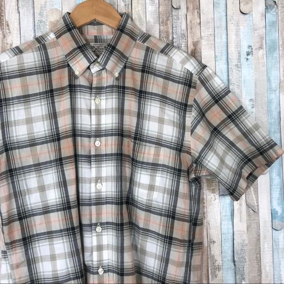 2f0d810a J. Crew Factory Shirts | J Crew M Short Sleeve Shirt Summer Plaid ...
